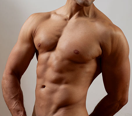 Male body for brochure